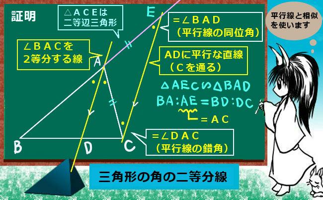 三角形の二等分線②(証明)