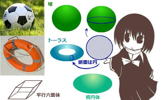 球・楕円体・トーラス